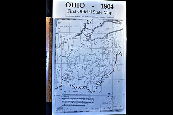 Ohio State Map, 1804
