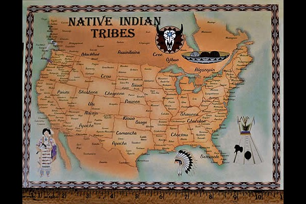 Indian Tribes of the US Postcard, Large