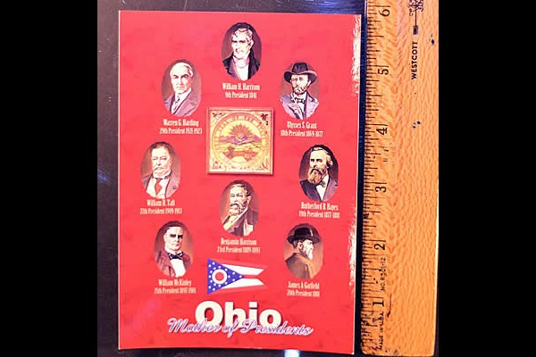 Ohio Presidents of the United States Postcard